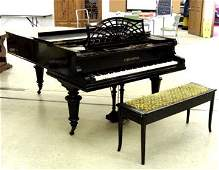 483: Black Lacquered Early 1900's C. Bechstei