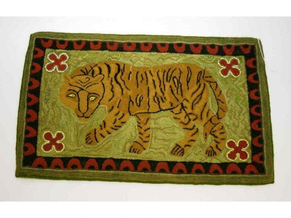 3: Tiger Hooked Rug
