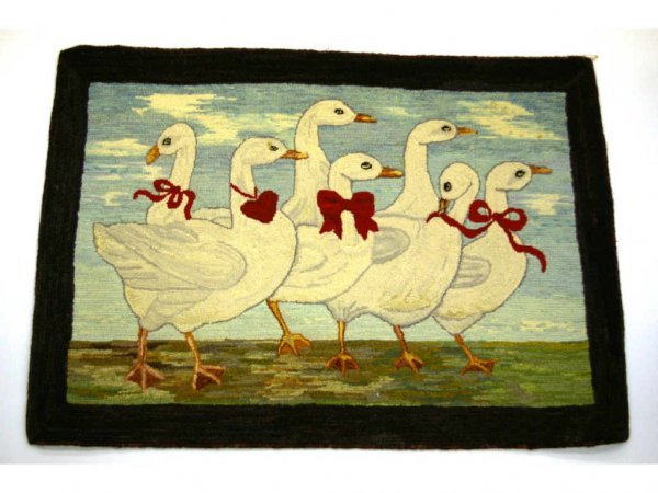 4: Mother Goose Hooked Rug