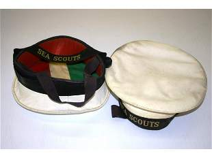 Two Sea Scouts Hats