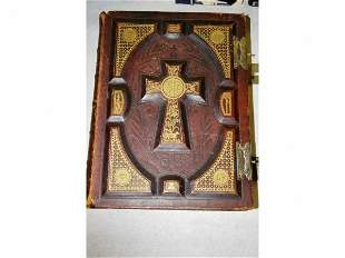 Early Leather Bound Bible