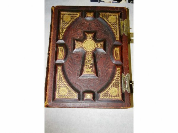 1008: Early Leather Bound Bible