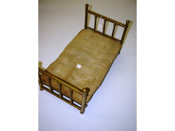 1010: 19th Century Salesman's Sample Brass Bed