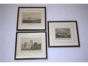Three Framed German Prints