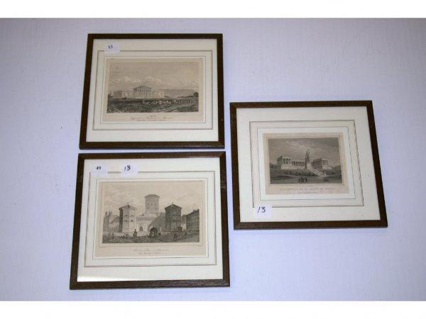 1013: Three Framed German Prints