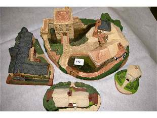 Four Old Country Village Collectables