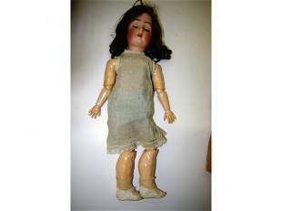"""Early 24"""" Bisque German Doll"""