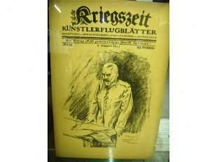 German 1914 Framed Magazine Cover