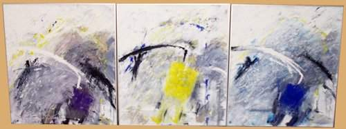 1287: Sigrid Baumbauer - Set of 3 Abstracts - Acrylic