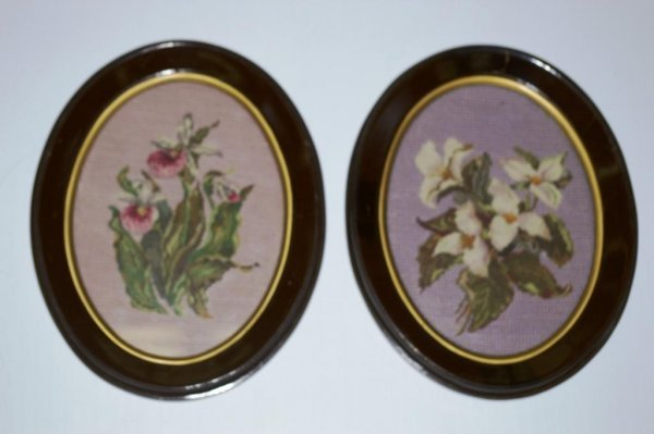 2: Pair of Vintage Needlepoints
