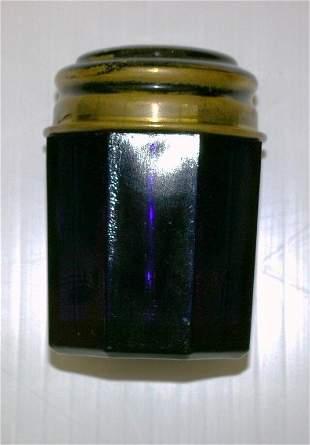 Early Cobalt Dresser Jar