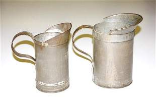 Pair of Early Tin Measures