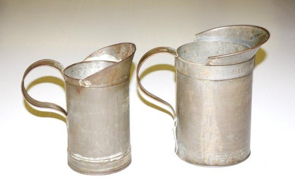 15: Pair of Early Tin Measures