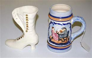 Decorative Ladies Boot and Stein
