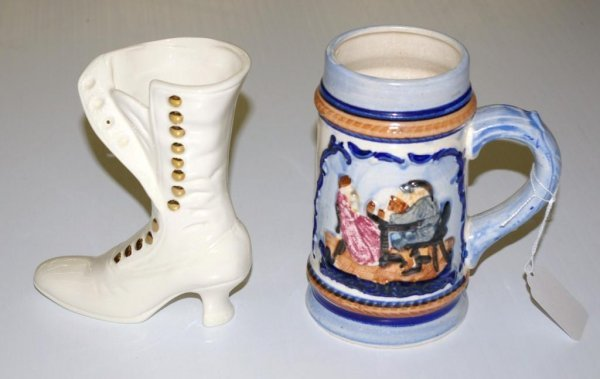 16: Decorative Ladies Boot and Stein