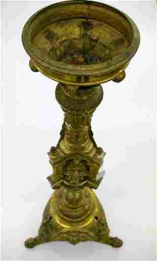 Large Brass Like Pedestal