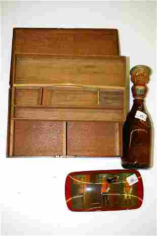 Mahogany Document Box and RCMP Pen Holder