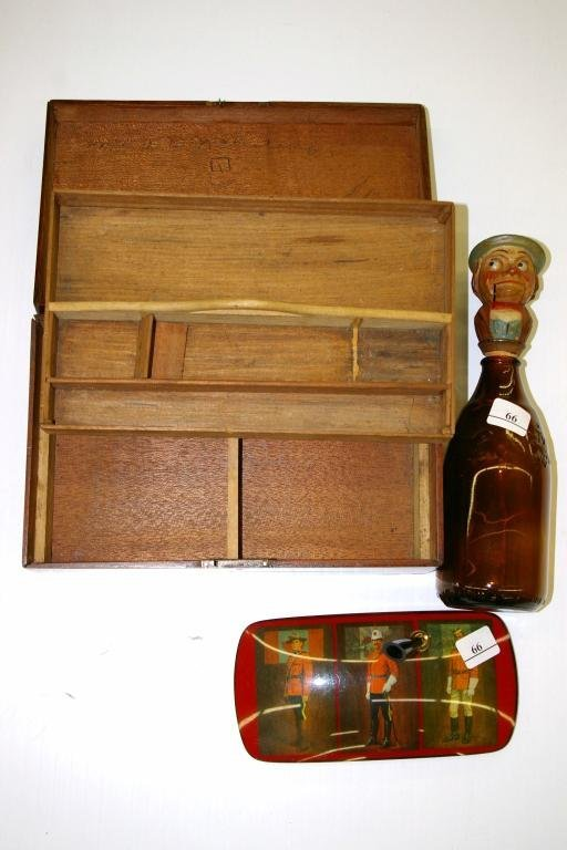 7: Mahogany Document Box and RCMP Pen Holder