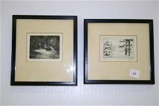 Two Miniature Etchings
