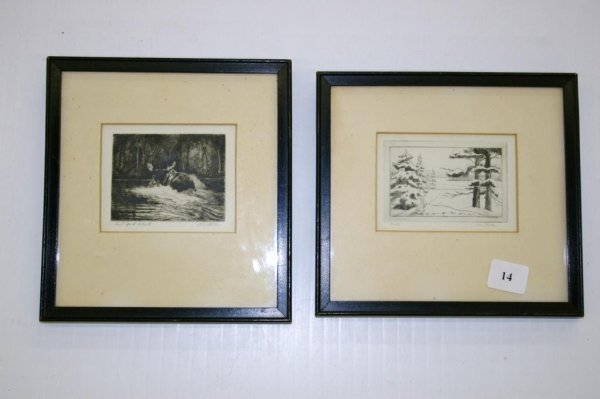 14: Two Miniature Etchings