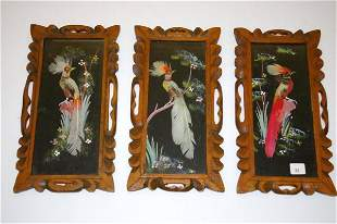 Set of Three Feathercraft Pictures