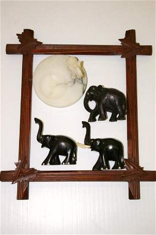 Picture Frame & Elephants