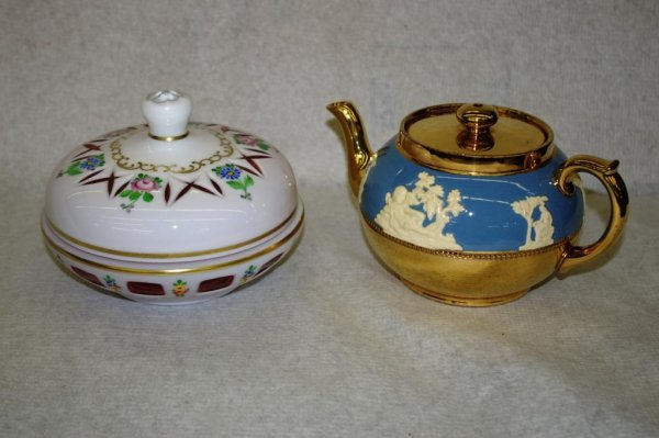 21: A Covered Candy Dish & Teapot