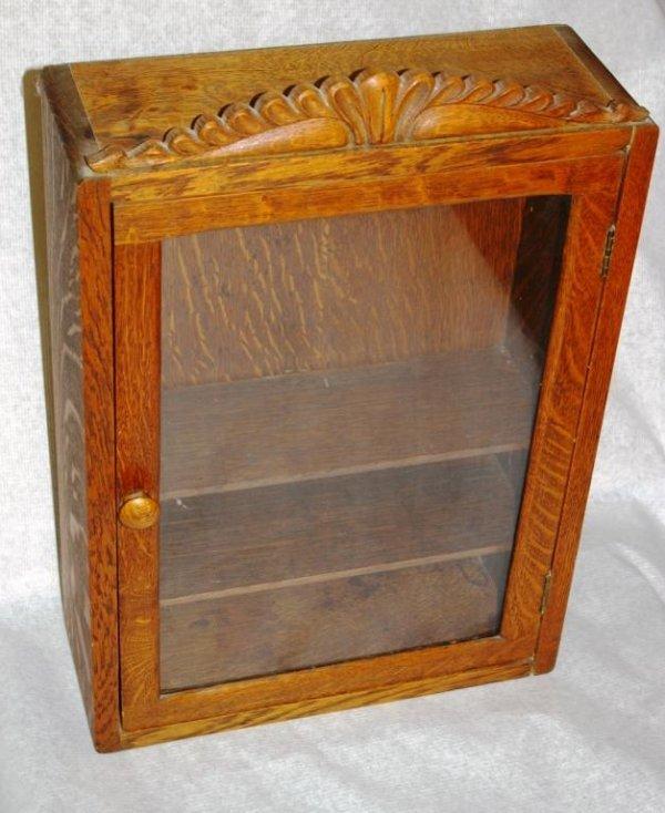 23: Oak Minature Display Cabinet