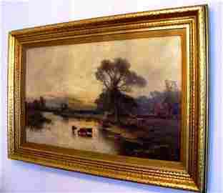 492: Oil On Board  Signed  Alfred de Breanski