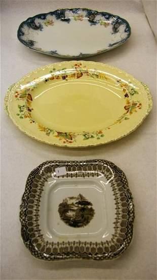 3 Ironstone Platters