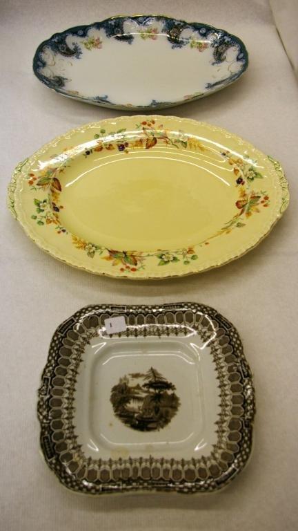 1001: 3 Ironstone Platters