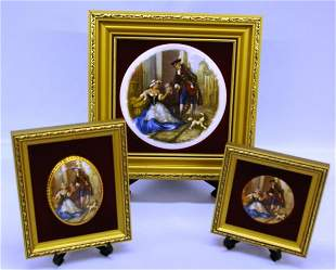 3 Framed Cries Of London Hand Painted Pictures