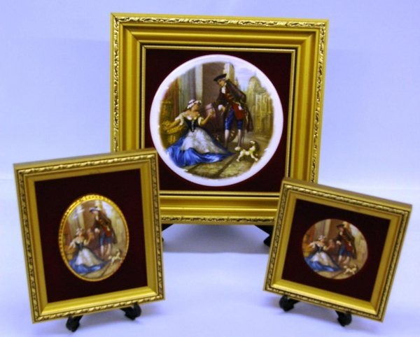1016: 3 Framed Cries Of London Hand Painted Pictures