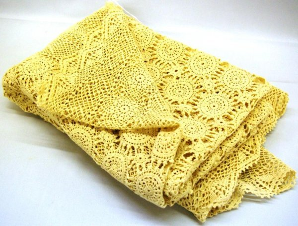 1018: Hand Crocheted Tablecloth