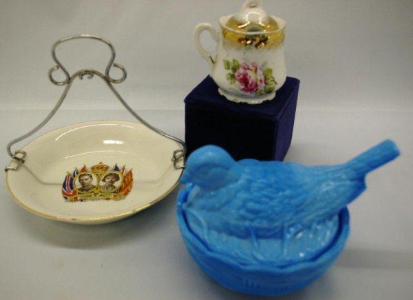 1023: Hen-on-nest, A Coronation Bowl, A German Condimen