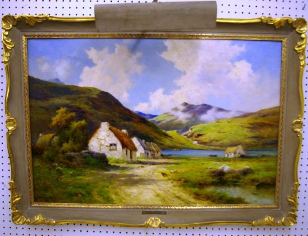 1394: An Original Painting By Alfred De Breanski