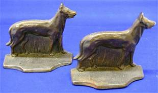 Dog Cast Bookends
