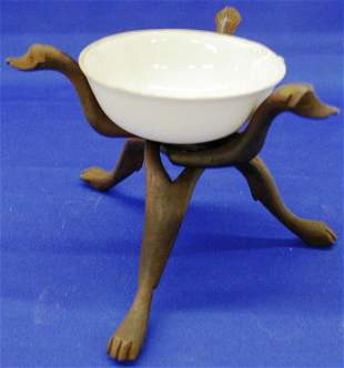 Sauce Boat On A Wooden Stand