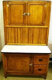 370: Antique Oak Hoosier Cupboard