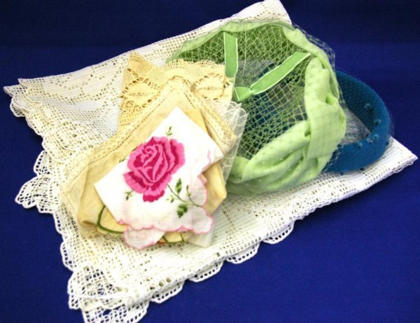 2 Ladies' Hats And Miscellaneous Linen