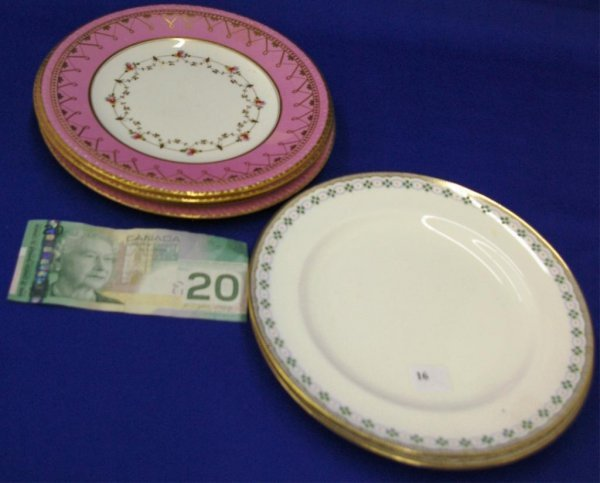 Pair Of Mintons Plates And 3 Victorian Plates