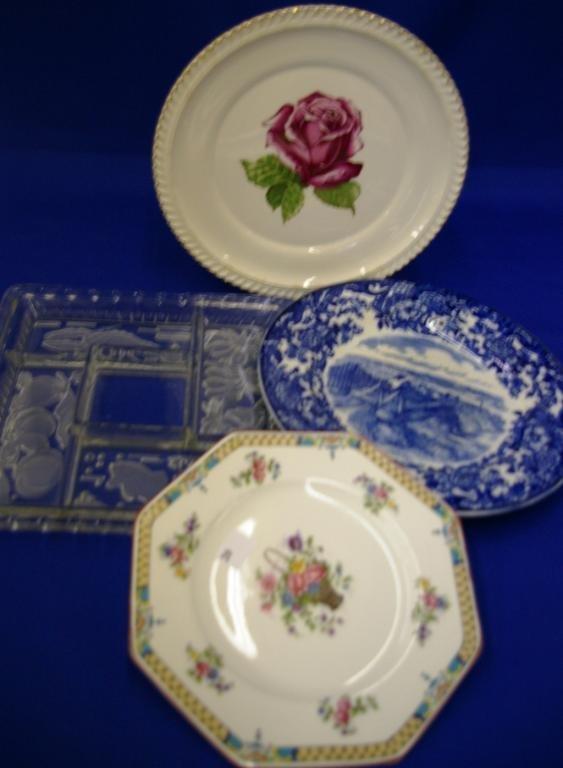 3 Various Plates And An Antipasto Dish