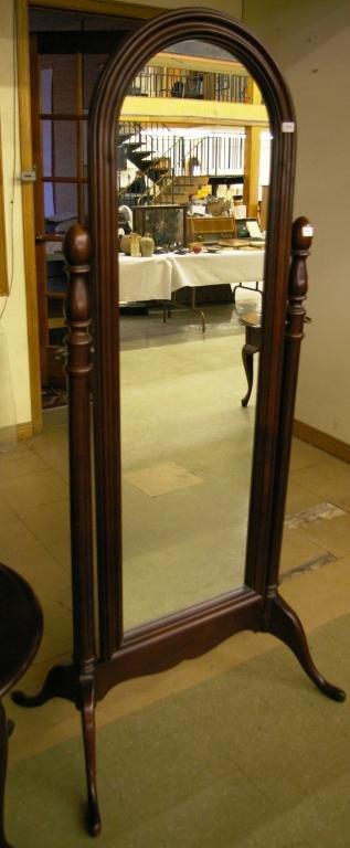 Gibbard Mahogany Cheval Mirror