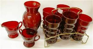 Collection Of Red Glass