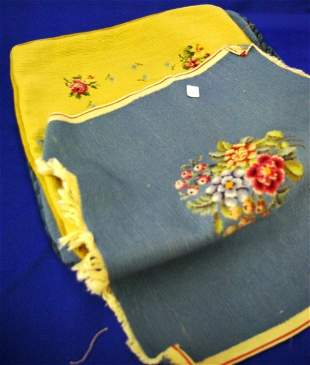 4 Needlepoint Seat Covers
