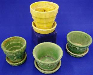 4 Mccoy Pottery Planters