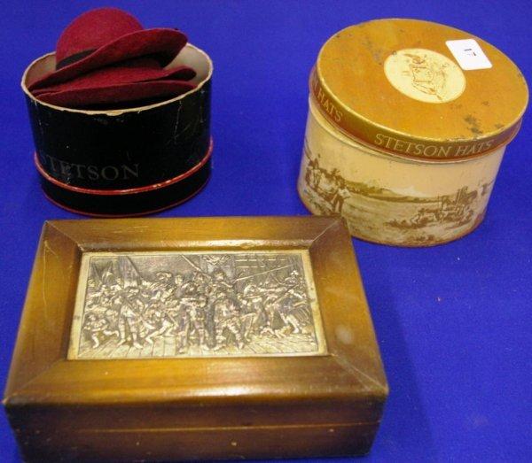 Stetson Tin Hatboxes