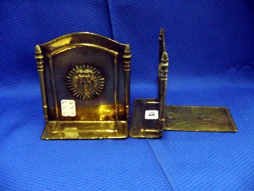 18: PAIR OF BRASS BOOKENDS