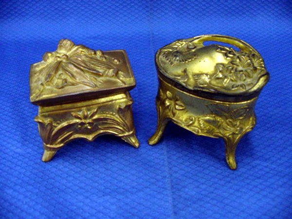 6: Spelter Bronze Jewellery Box
