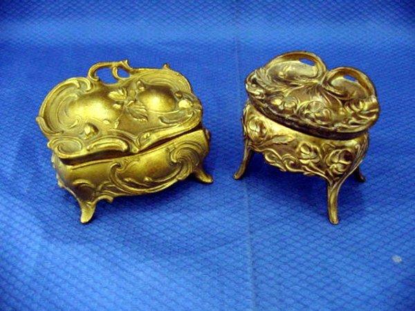 7: Spelter Bronze Jewellery Box